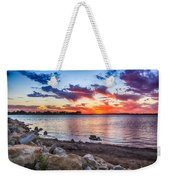 Smithville Lake Sunset Weekender Tote Bag