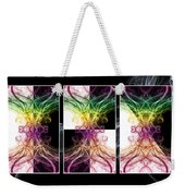 Smoke Art Triptych Weekender Tote Bag