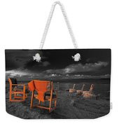 Smoke Break In The Ruins Black And White Weekender Tote Bag