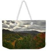 Smoky Mountain Autumn View Weekender Tote Bag