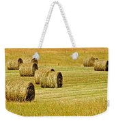 Smoky Mountain Hay Weekender Tote Bag by Frozen in Time Fine Art Photography