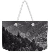 Smoky Mountain View Black And White Weekender Tote Bag