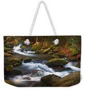 Smoky Mtn Autumn Stream Weekender Tote Bag