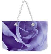 Smoky Purple Rose Flower Weekender Tote Bag