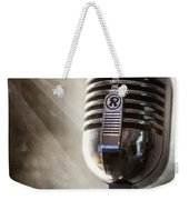 Smoky Vintage Microphone Weekender Tote Bag