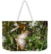 Snack For A White Peacock Butterfly Weekender Tote Bag