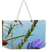 Snail On Flowers Weekender Tote Bag