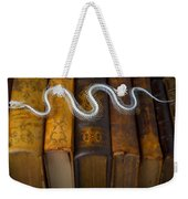 Snake And Antique Books Weekender Tote Bag