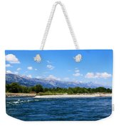 Snake And Tetons Weekender Tote Bag