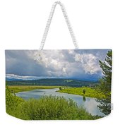 Snake River By Oxbow Bend In Grand Teton National Park-wyoming Weekender Tote Bag