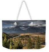 Snake River Storm Weekender Tote Bag