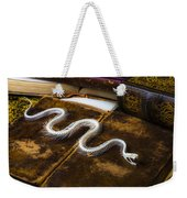 Snake Skeleton And Old Books Weekender Tote Bag