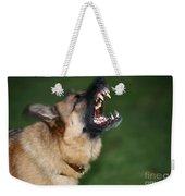 Snarling German Shepherd Dog Weekender Tote Bag