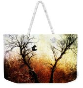 Sneakers In The Tree Weekender Tote Bag by Bob Orsillo