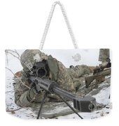 Snipers Provide Overwatch At Fort Weekender Tote Bag