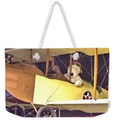 Snoopy In His Biplane Weekender Tote Bag