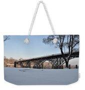 Snow Along Kelly Drive Weekender Tote Bag