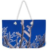 Snow And Ice Coated Branches Weekender Tote Bag