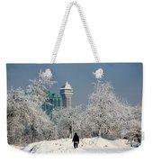 Snow And Ice Weekender Tote Bag
