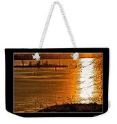 Snow And Ice Sunset Weekender Tote Bag