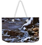 Snow And Ice Water And Rock Weekender Tote Bag by Dale Kincaid