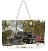 Snow And Steam Weekender Tote Bag
