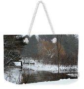 Snow And Stream Weekender Tote Bag