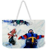 Snow Angels Weekender Tote Bag