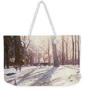 Snow At Broadlands Weekender Tote Bag