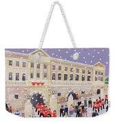 Snow At Buckingham Palace Weekender Tote Bag by William Cooper