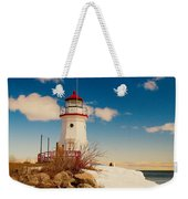Snow At Cheboygan Crib Weekender Tote Bag