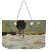 Snow At Christmas Weekender Tote Bag