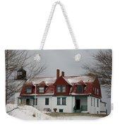 Snow At Point Betsie Weekender Tote Bag