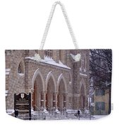 Snow At St. John's Weekender Tote Bag