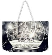 Snow Ball Weekender Tote Bag by Mo T