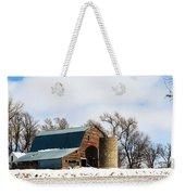 Snow Barn Weekender Tote Bag