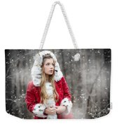 Snow Beauty In Red Weekender Tote Bag
