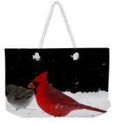 Snow Birds Weekender Tote Bag