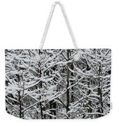 Snow Branches Weekender Tote Bag