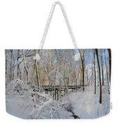 Snow Bridge Weekender Tote Bag