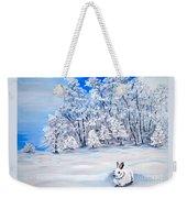 Snow Bunny Weekender Tote Bag