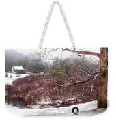 Snow Cabin And Tire Swing Weekender Tote Bag