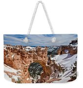Snow Capped Arch At Bryce Weekender Tote Bag