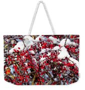 Snow Capped Berries Weekender Tote Bag