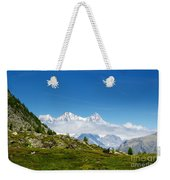 Snow-capped Mountain And Cloud Weekender Tote Bag