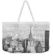 Snow - Chrysler Building And New York City Skyline Weekender Tote Bag