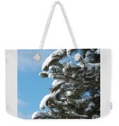 Snow-clad Pine Weekender Tote Bag