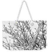 Snow Cover Weekender Tote Bag