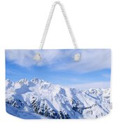 Snow Covered Alps, Schonjoch, Tirol Weekender Tote Bag