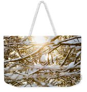Snow Covered Branches Weekender Tote Bag